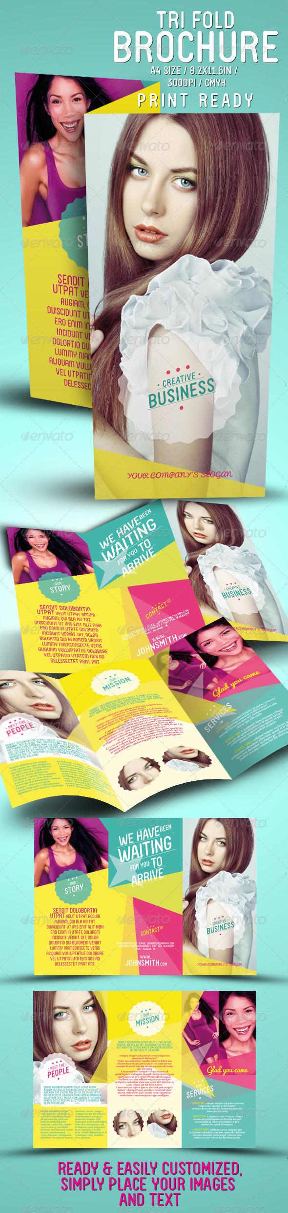 Creative Tri Fold Brochure - Brochures Print Templates