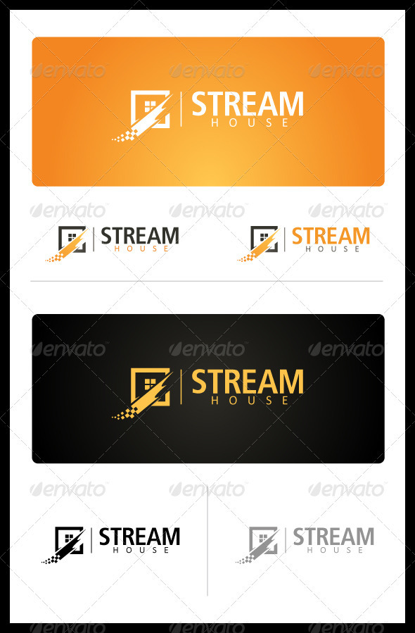 Stream House - Buildings Logo Templates