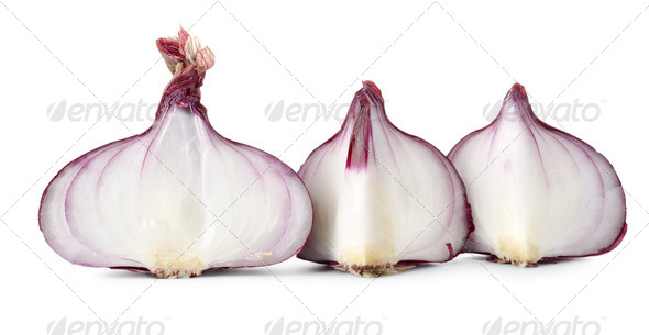 Sliced red onions - Stock Photo - Images