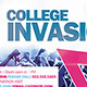 College Invasion Flyer vol.2 - GraphicRiver Item for Sale
