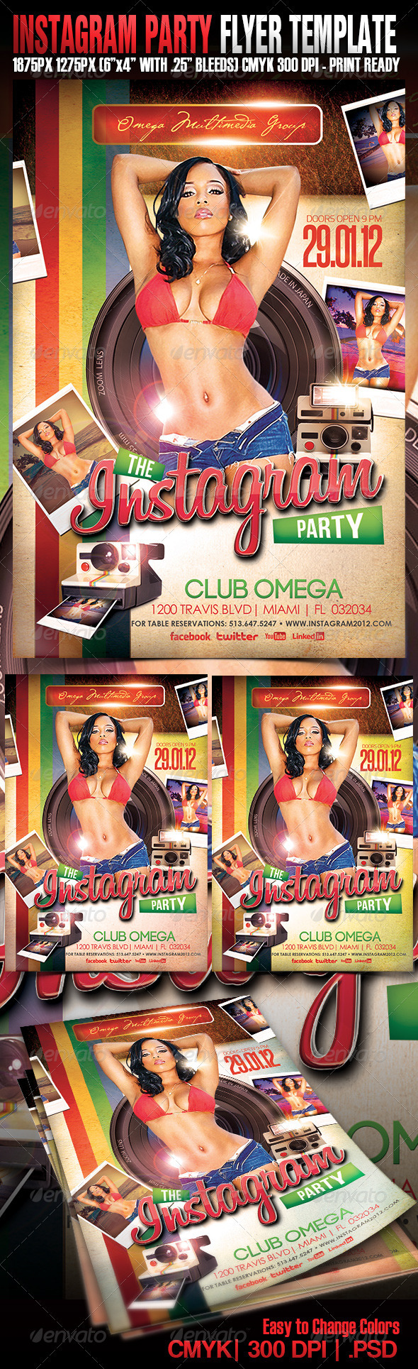 The Instagram Party - Events Flyers