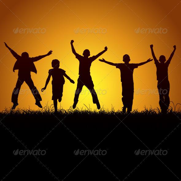 Joy Of Children - People Characters