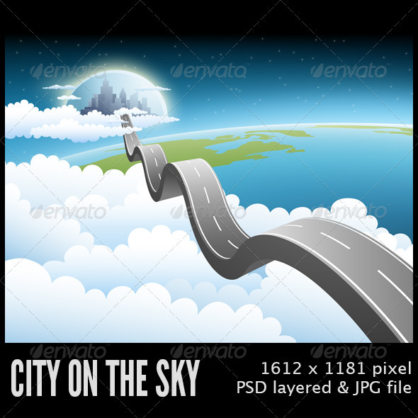 City on the Sky - Scenes Illustrations
