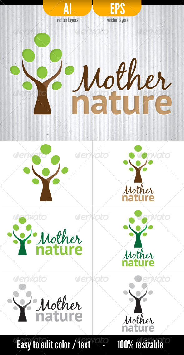 Mother Nature - Nature Logo Templates
