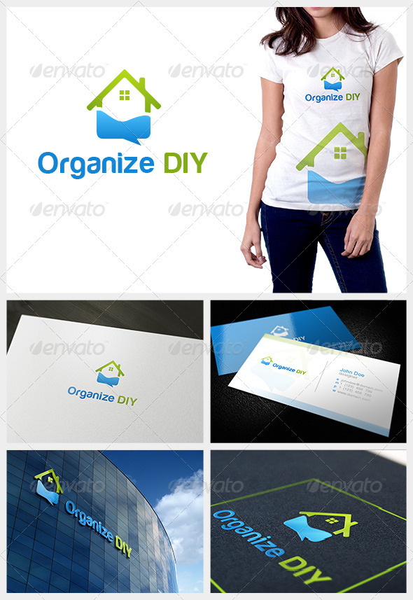 Organize DIY - Buildings Logo Templates