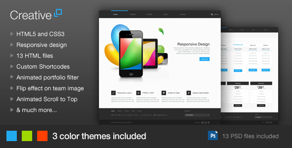 Creative - Responsive HTML Template - Creative Site Templates