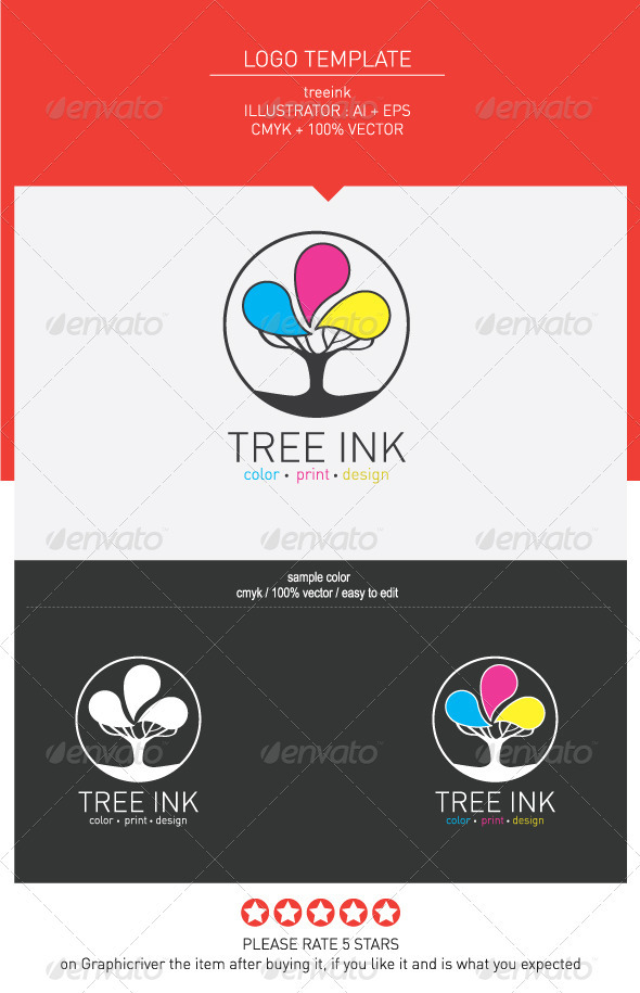Tree ink - Objects Logo Templates