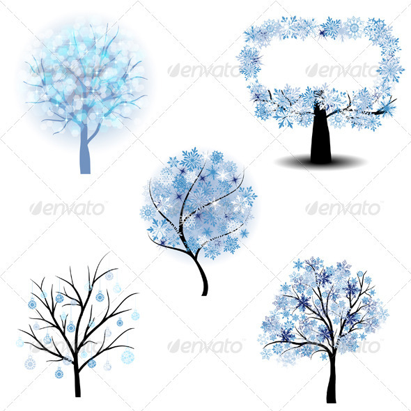 Winter tree set - Seasons Nature