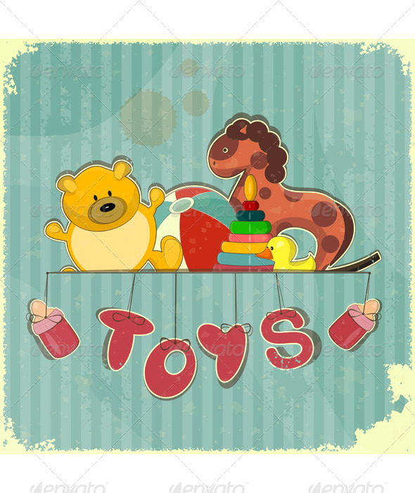 Vintage Design Toy Shop - Miscellaneous Vectors