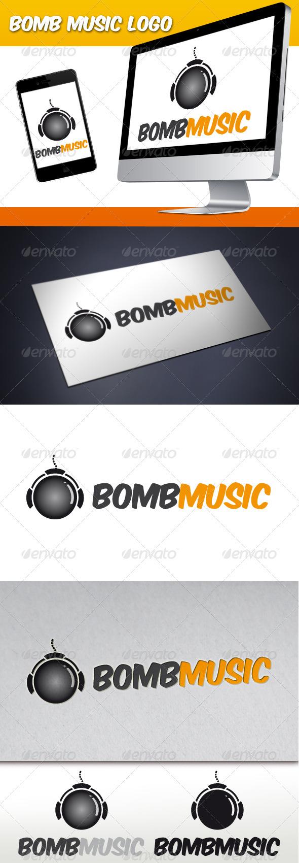 Bomb Music Logo - Objects Logo Templates