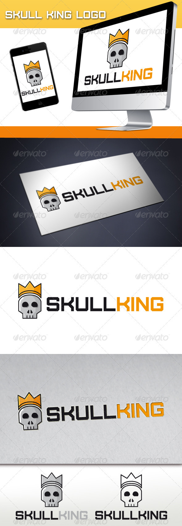 Skull King Logo - Objects Logo Templates