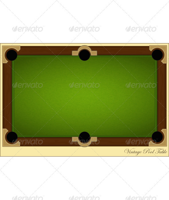 Vintage Pool Table   Backgrounds Decorative