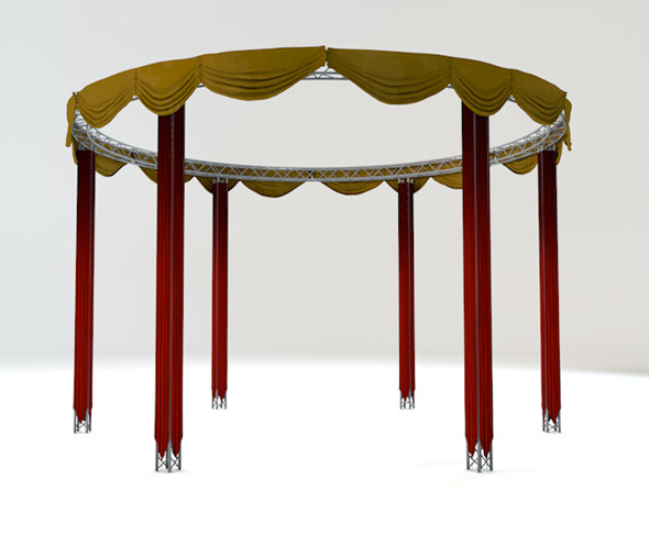theatrical truss - 3DOcean Item for Sale