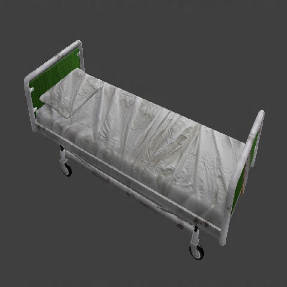 Low Poly Hospital Bed - 3DOcean Item for Sale