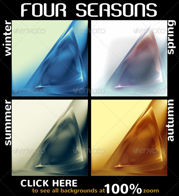 Four Seasons - Four Backgrounds - Patterns Backgrounds