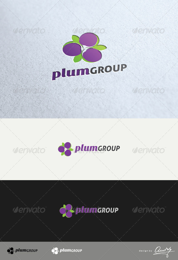 Plum Group Logo Template - Food Logo Templates