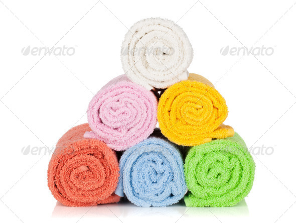 Colorful towels - Stock Photo - Images