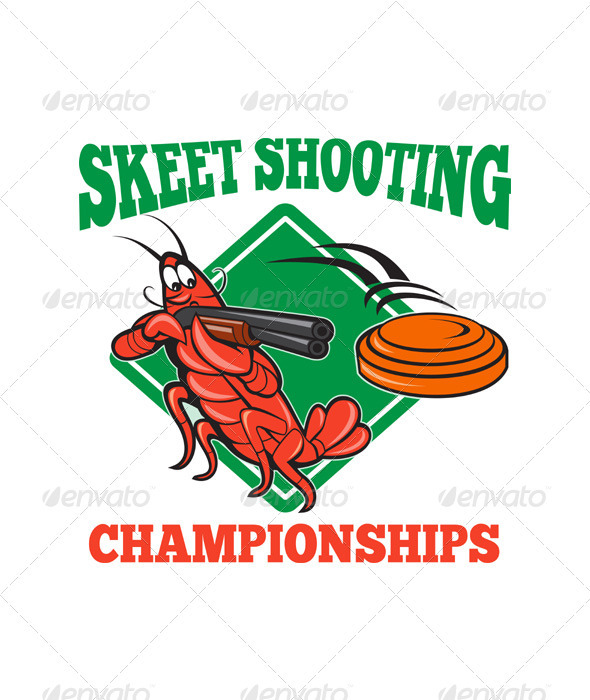 Crayfish Lobster Target Skeet Shooting  - Animals Characters