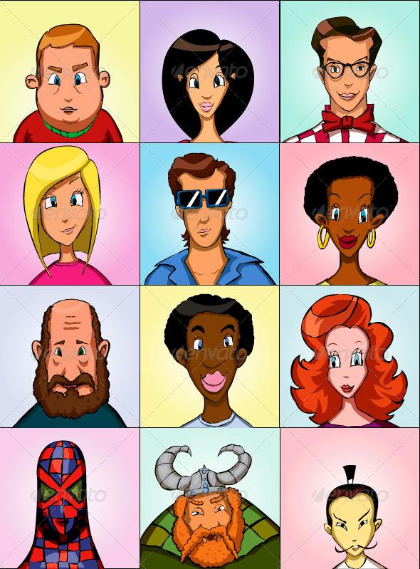 Avatars - Characters Vectors