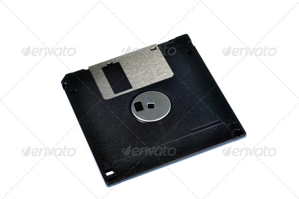 A 3.5 Floppy Disc - Stock Photo - Images