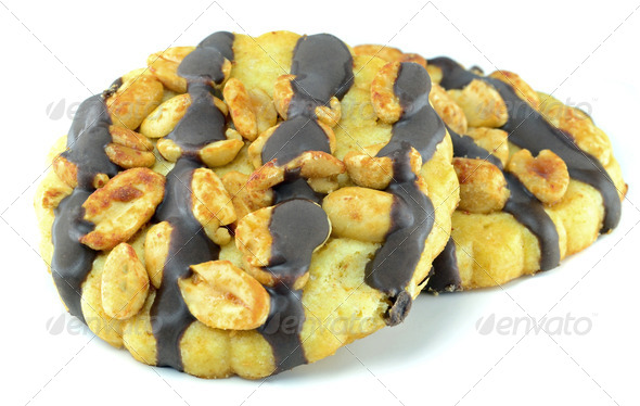 Peanut Chocolate Cookies - Stock Photo - Images