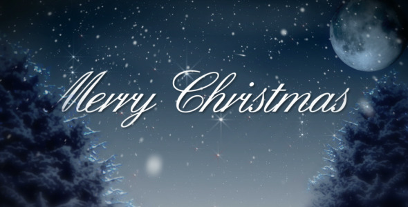 Merry christmas snowy winter night by amarufilm videohive for Holiday themed facebook cover photos