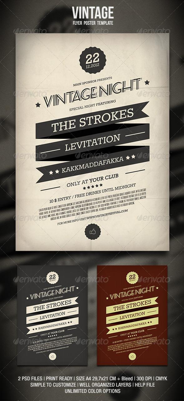 Vintage Flyer / Poster 2 - Events Flyers