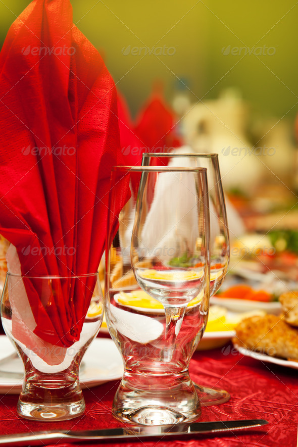 Served for a banquet table. - Stock Photo - Images