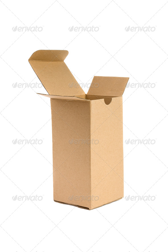 Cardboard box. - Stock Photo - Images