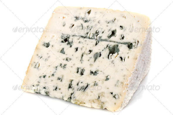 Piece of blue cheese - Stock Photo - Images