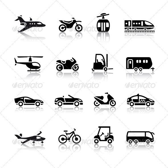 Set of Transport Icons - Web Elements Vectors