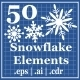 50 Snowflake Element - GraphicRiver Item for Sale