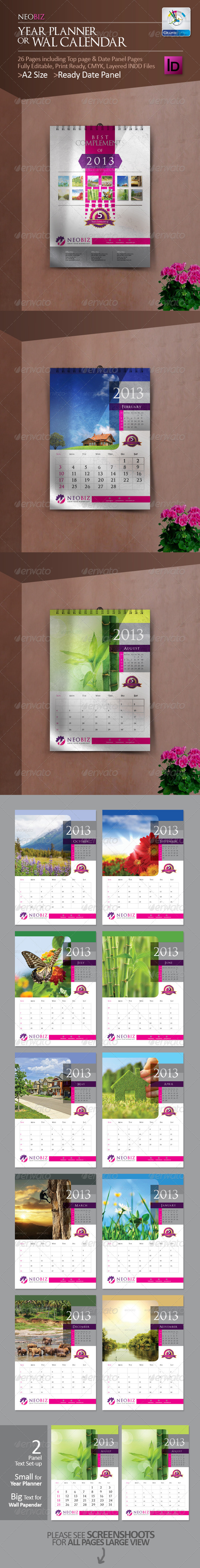 NeoBiz Year Planner/Wall Calendar - Calendars Stationery