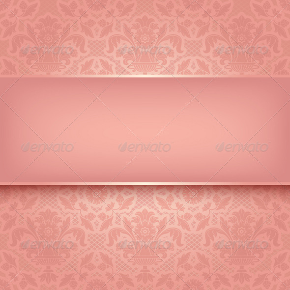 Background Pink Ornamental Fabric Texture - Backgrounds Decorative