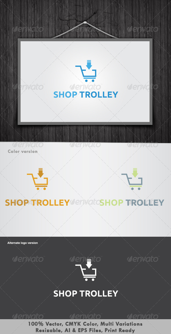 Shop Trolley Logo - Objects Logo Templates