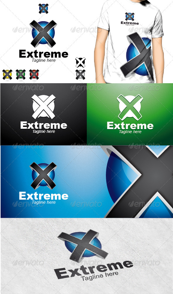 Extreme Logo - 3d Abstract