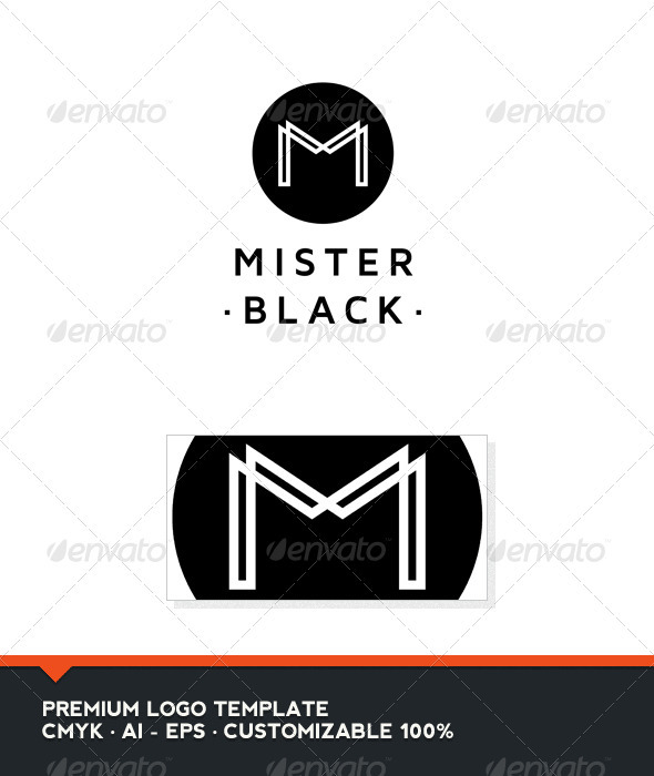 Mister Black - Letter M Logo Tempate - Letters Logo Templates