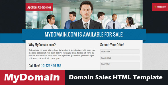 MyDomain – Domain for sale HTML5 template
