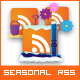 12 Seasonal RSS Icons - GraphicRiver Item for Sale