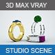 Realistic studio scene setup for 3D MAX  - 3DOcean Item for Sale
