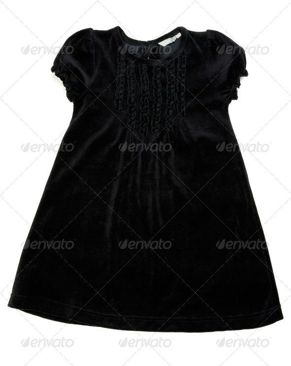 Black children's dress - Stock Photo - Images