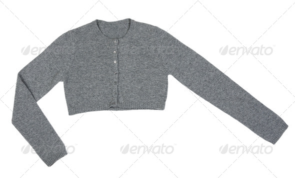 Grey knitted boleros - Stock Photo - Images