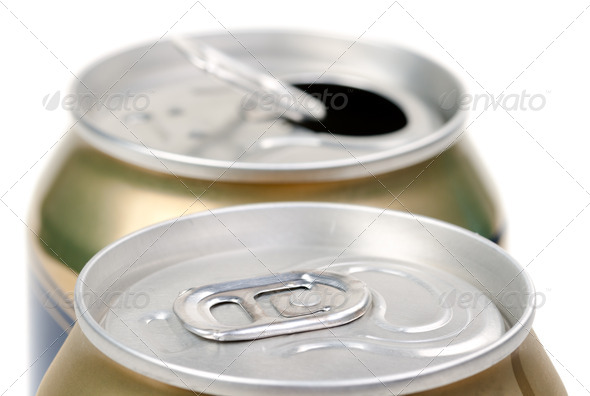 Beer can on white background - Stock Photo - Images