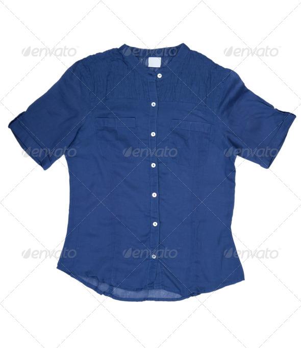 Fashionable women's blue shirt - Stock Photo - Images