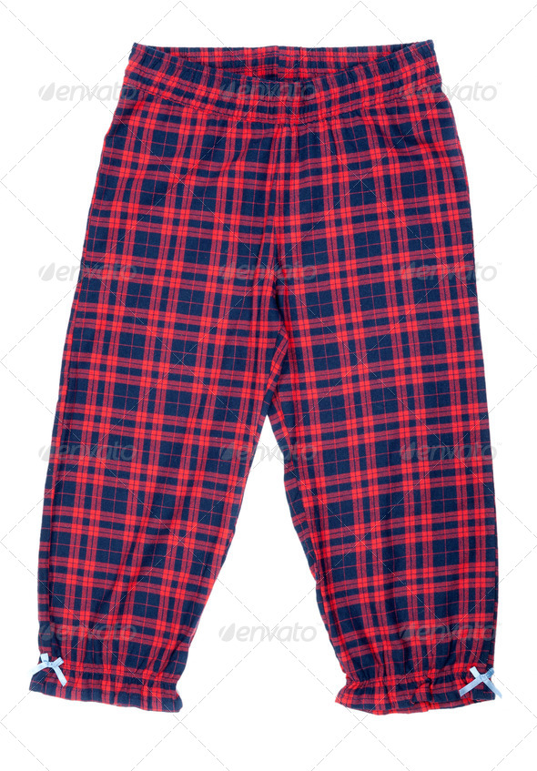 The red plaid pajama pants - Stock Photo - Images