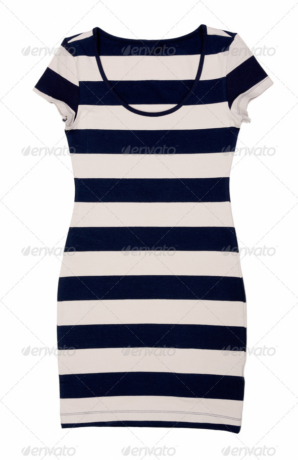 Fashionable women's striped dress - Stock Photo - Images