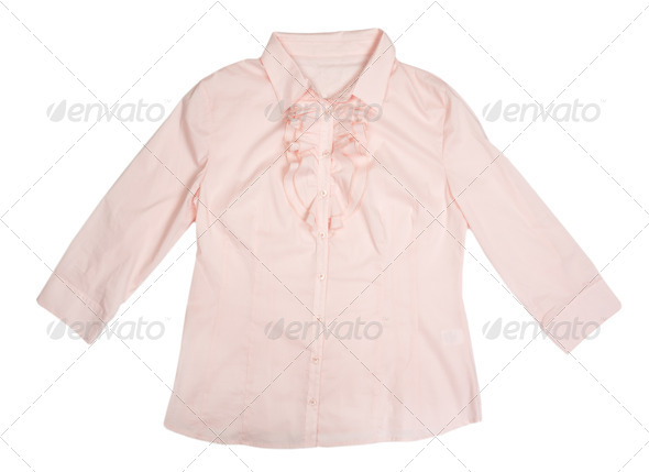 Beige Women's Shirt - Stock Photo - Images