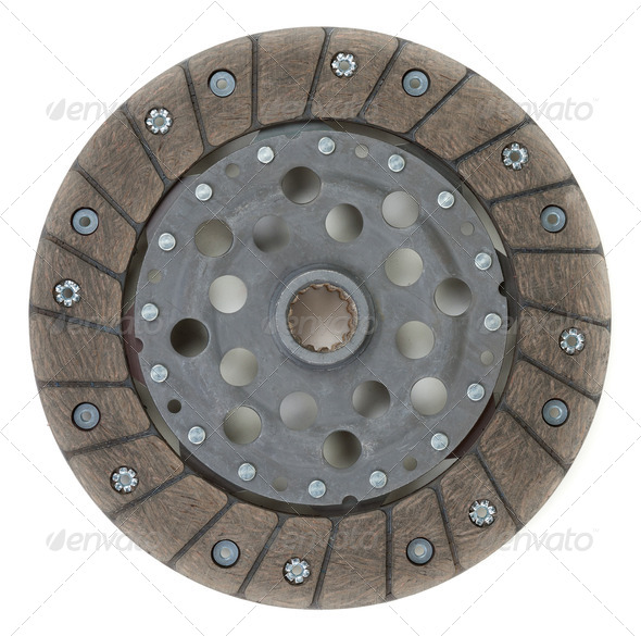 New clutch disc from the modern car - Stock Photo - Images