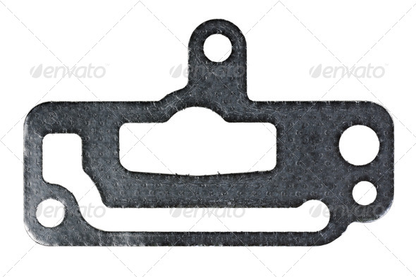 paronit graphite gasket car - Stock Photo - Images