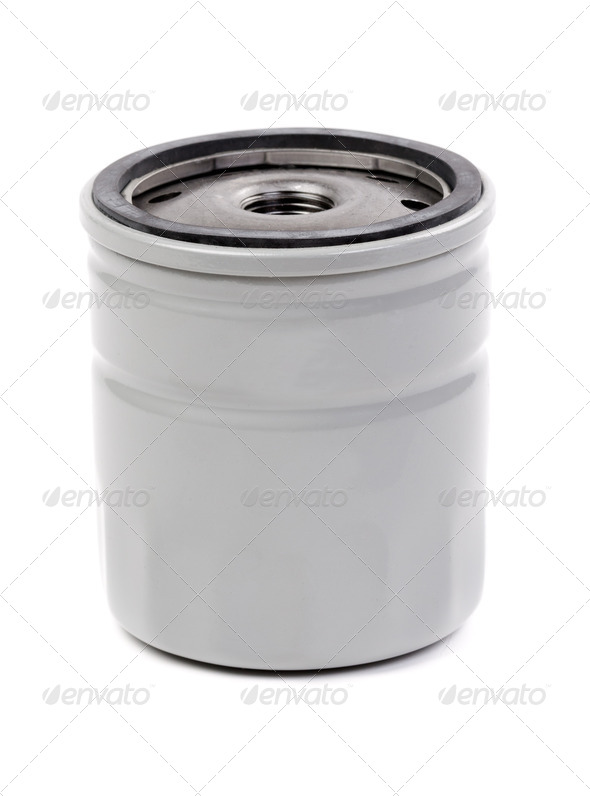 Oil filters for passenger car - Stock Photo - Images
